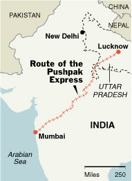 PushpakExpressIndiaMap.jpg