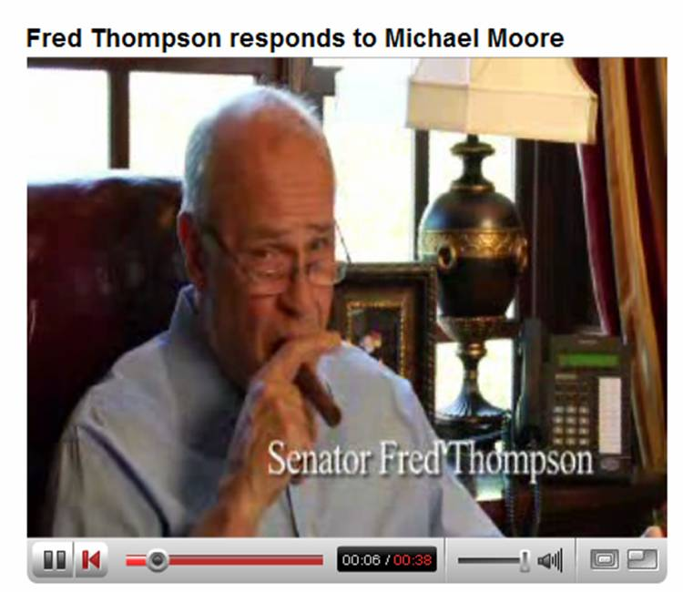 e6c884cc98e Fred Thompson Skewers Michael Moore with Wit and Wisdom